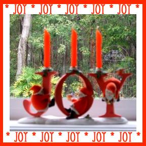 Marjolein Bastin Christmas Santa JOY Candle Holder
