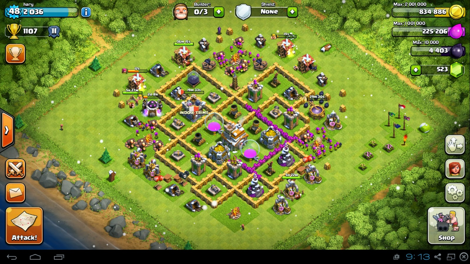 3 stars town hall 7 Clash of clans