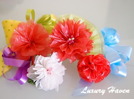 mothers day diy plastic bouquet flower craft