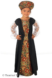 Lady Capulet Historical Kids Costume from Theatrical Threads Ltd