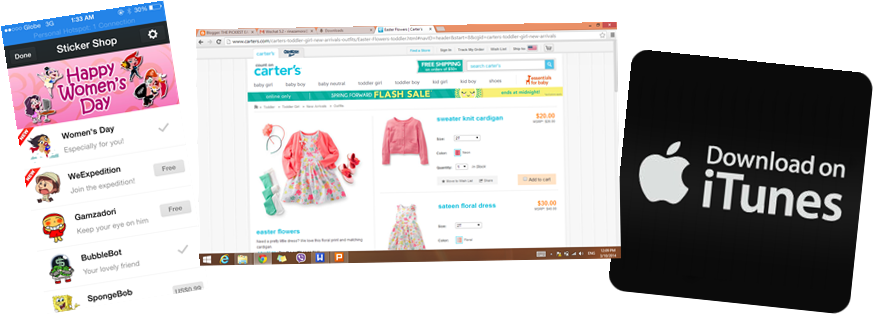 virtual online shopping card