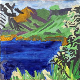 artiste peintre montpellier - Paysage maritime