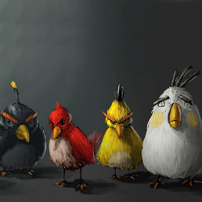 Angry Birds Painting iPad Wallpaper