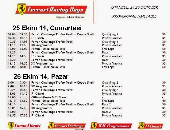 Ferrari Racing Days programı