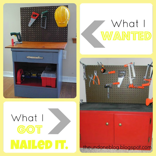 The Undone Blog: DIY play workbench