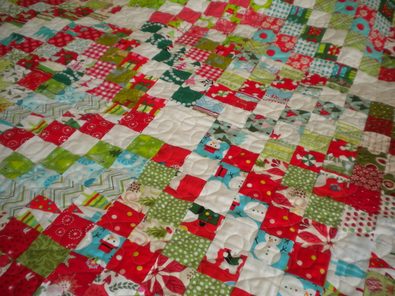 Fabulous This was a lap size quilt and I um wondering if my Christmas scraps have grown enough yet to make a bed size version for next year because this really is my
