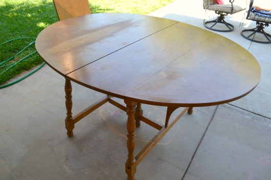 Dining Table Before U0026 After: How To Refinish A Wood Table