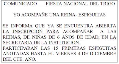 ESPACIO PUBLICITARIO : FIESTA NACIONAL DEL TRIGO