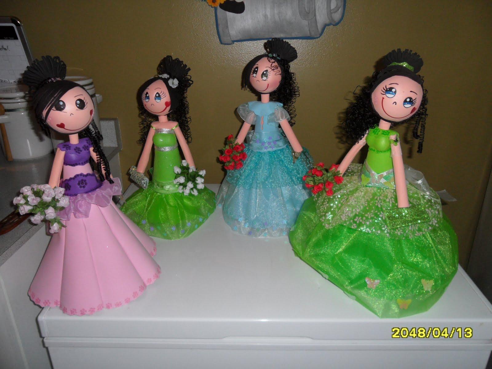 CREACIONES-PATTYCA: fofuchas quinceaneras.vestido largo