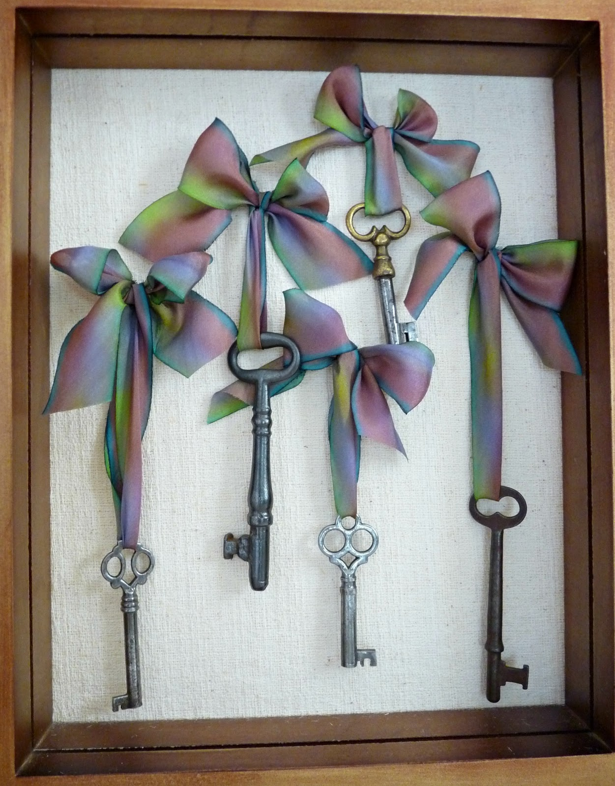 Frame vintage skeleton keys for display