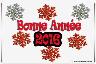 Message bonne année 2016