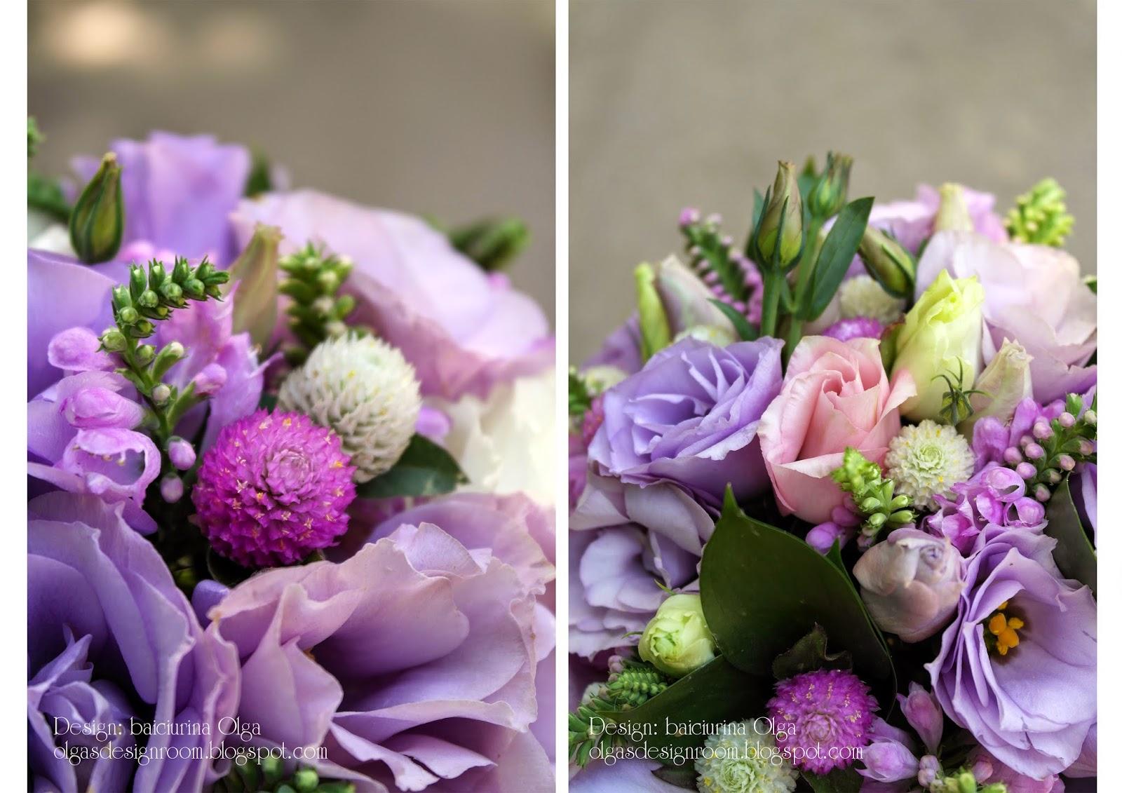 Сочетание цветов в букетах фото