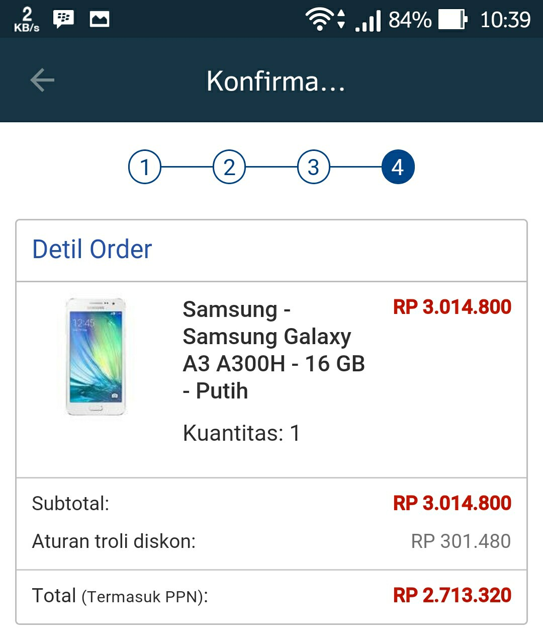 Harga Samsung Galaxy A3 September 2015