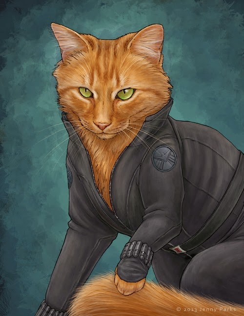 07-Black-Widow-Jenny-Parks-Drawing-Animals-Superhero-Cats-Scientific-Illustrator-www-designstack-co