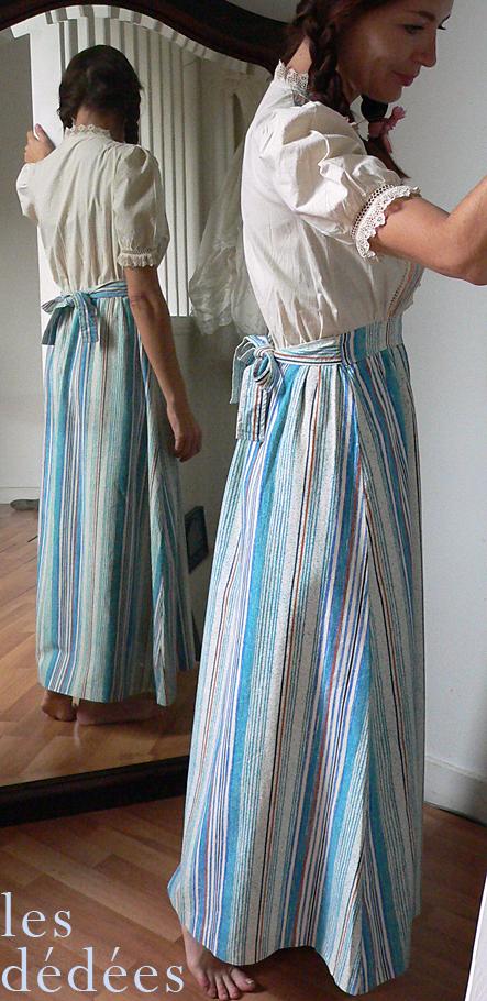 les dedees vintage recup creations la robe de dans la maison dans la prairie
