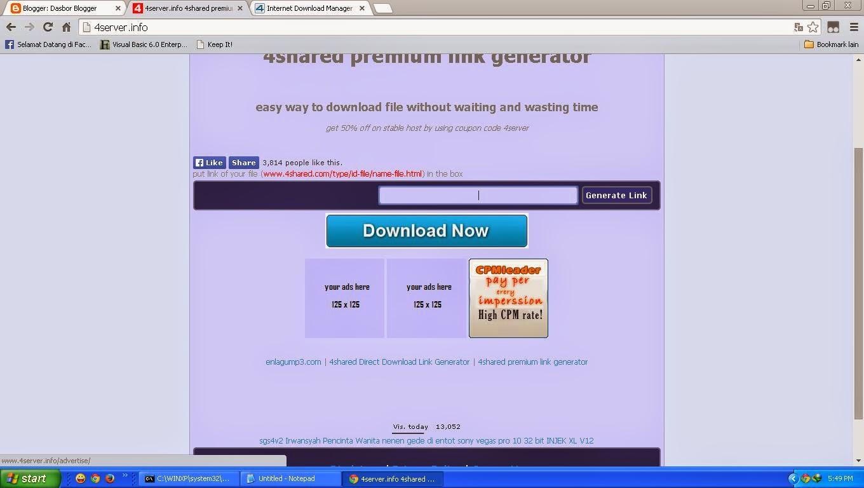 2 Metode Download Berkas 4shared Tanpa Menunggu