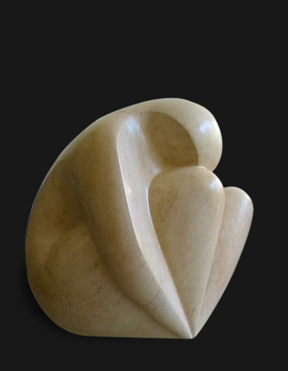 Pensive en marbre