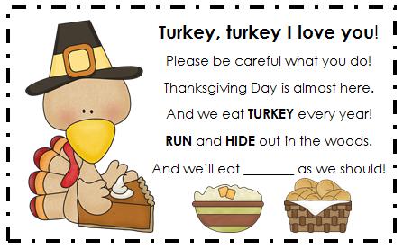 Holly's Hobbie: Turkey Poem
