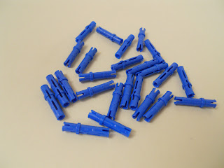 LEGO TECHNIC LOT OF 25 BLUE LONG FRICTION PINS MINDSTORMS NXT NEW