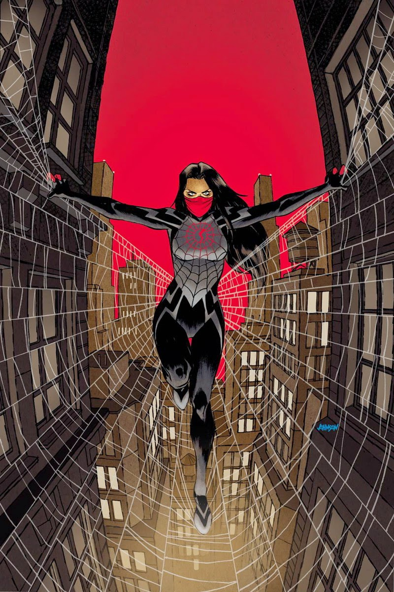 Silk / Seda, la mujer araña que fue picada a la vez que Peter Parker pero estuvo encerrada en un búnker hasta hace poco.