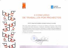 PREMIO II CONCURSO DE TRABALLO POR PROXECTOS DE BIBLIOTECAS ESCOLARES DE GALICIA