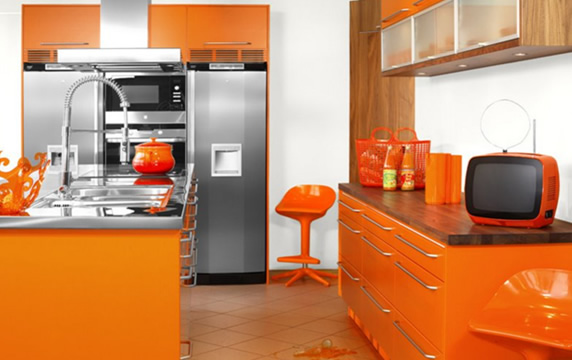 Couleur cuisine orange