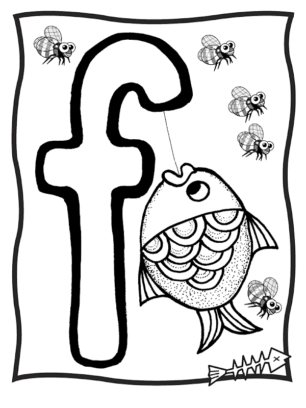 f letter coloring pages - photo #31