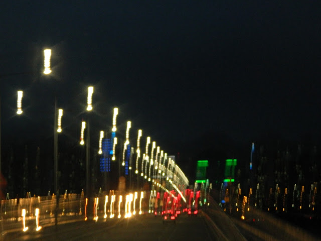 Night time view of the bridge over the Han River