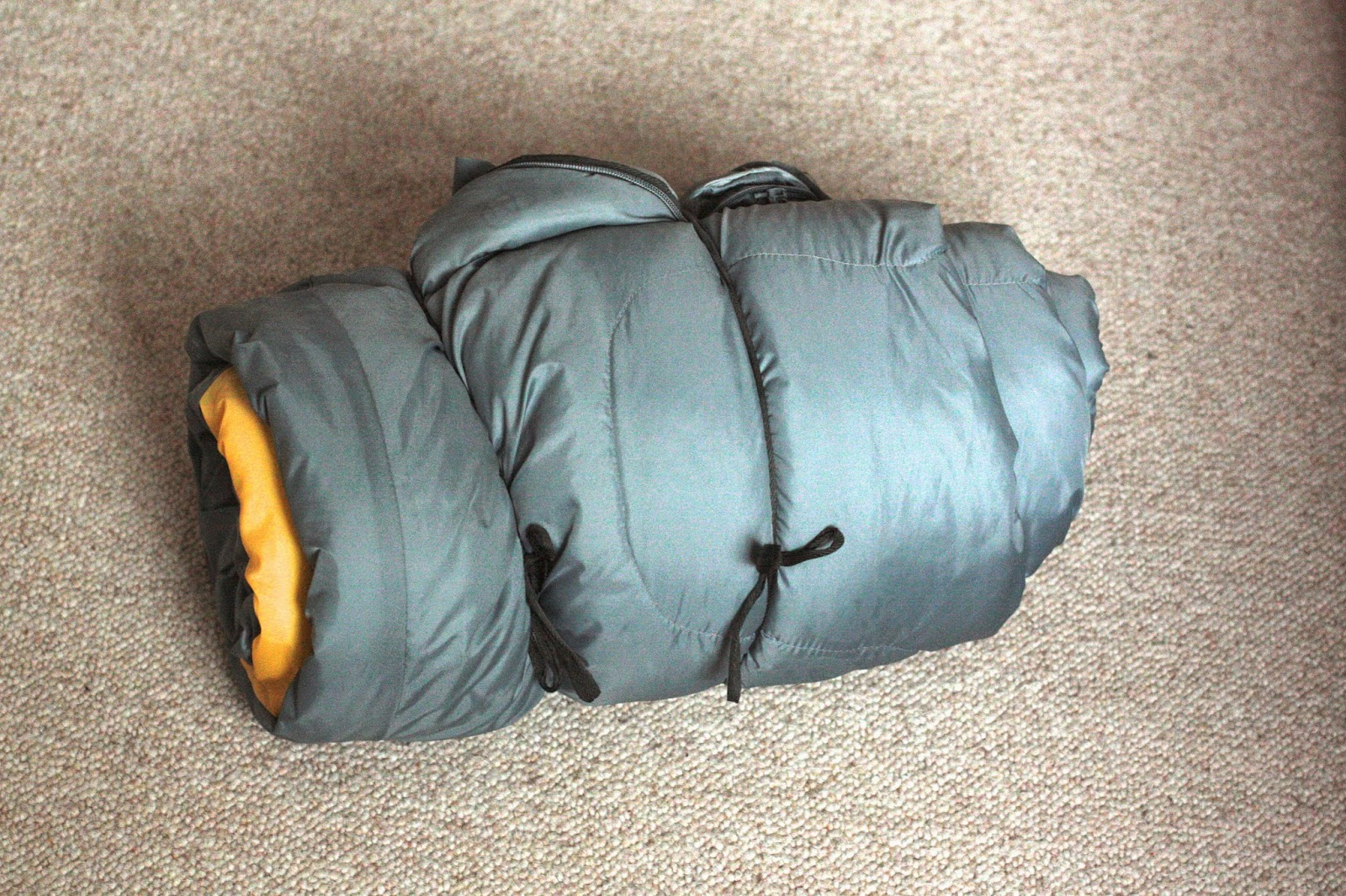 A sleeping bag