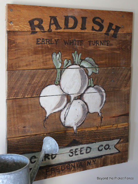 vintage seed packet sign http://bec4-beyondthepicketfence.blogspot.com/2013/03/vintage-seed-packet-sign.html