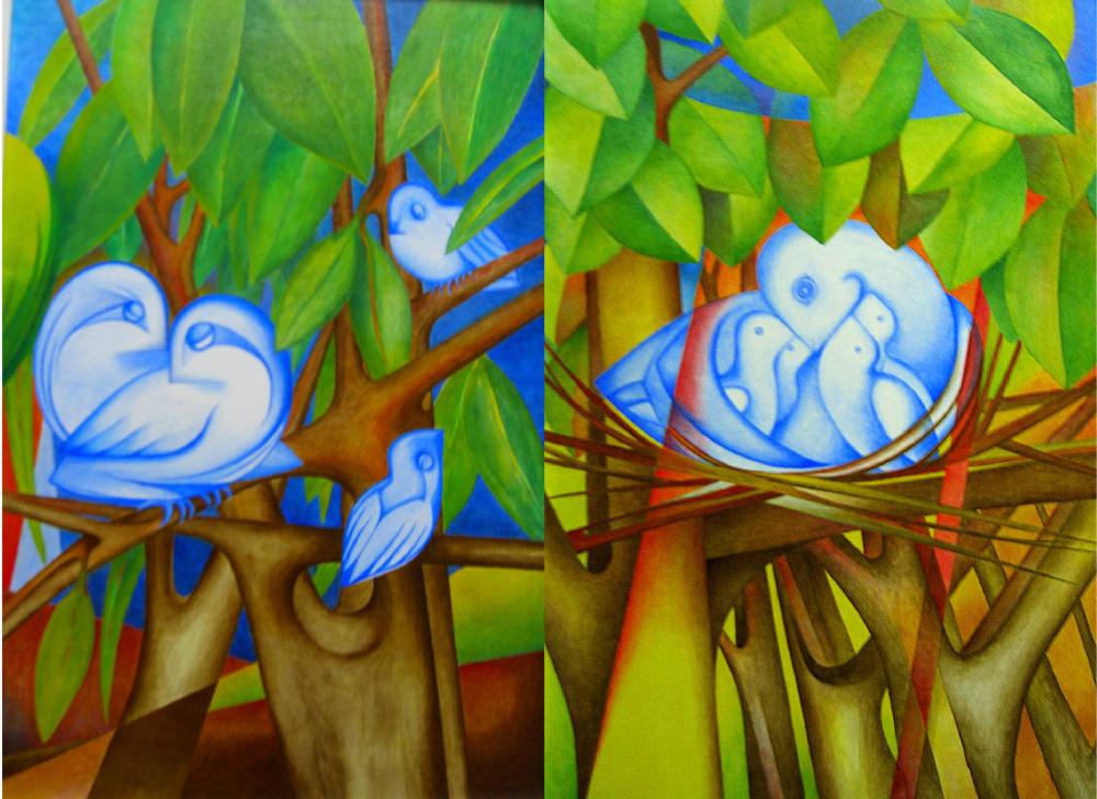 Aquarell und acrylbilder - Einfache acrylbilder ...