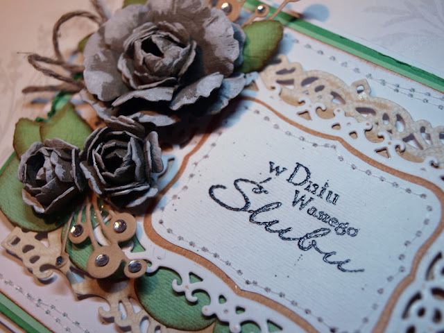 handmade wedding card by Ewa Jarlińska