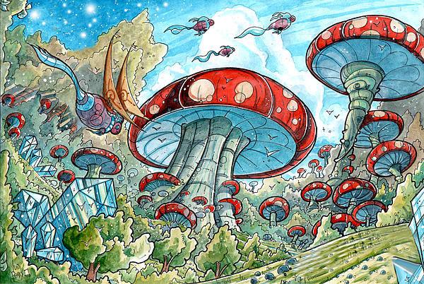 Magic Mushroom Drawings a Kind of Mushroom Archive
