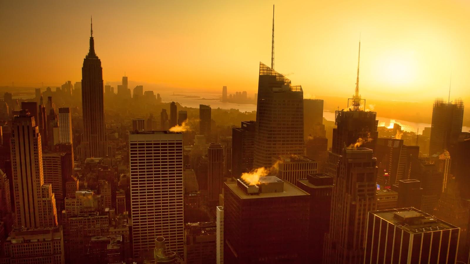 Manhattan Golden Sunset View