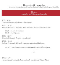 Programma: domenica 20 novembre