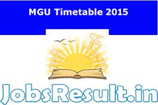 MGU Timetable 2015