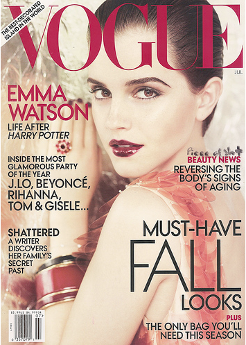 emma watson vogue july 2011. wallpaper Watson for VOGUE US July emma watson vogue us july 2011.