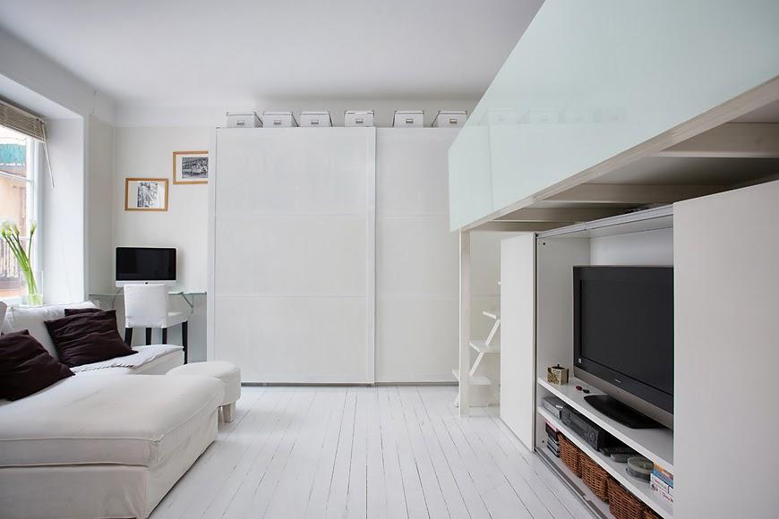 amenajari, interioare, decoratiuni, decor, design interior, garsoniera, spatii mici, scandinav, living,