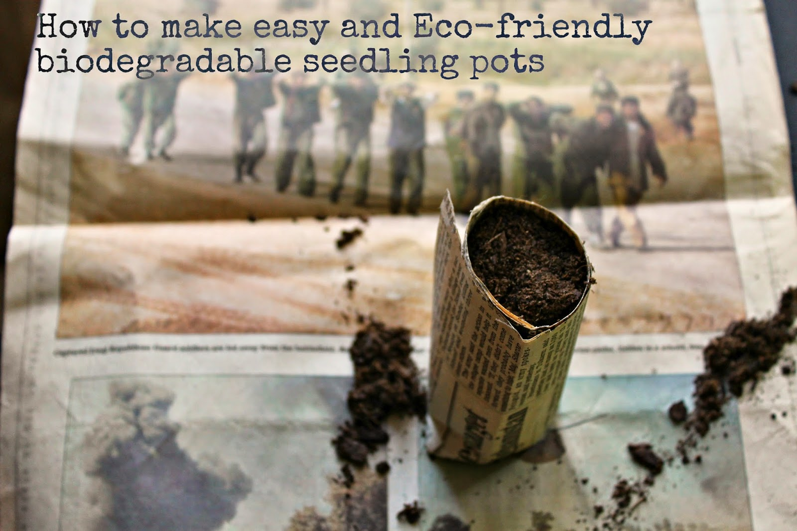 How to make Biodegradable Seed Pots with Newspaper