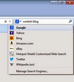 mesin pencari kotak pencarian firefox