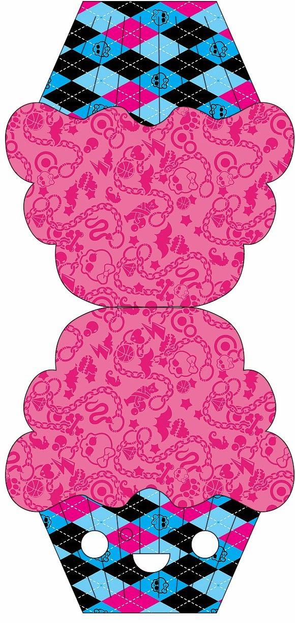Tarjeta con forma de Cupcake.