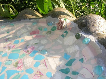 Mosaic birdbath ~ how to