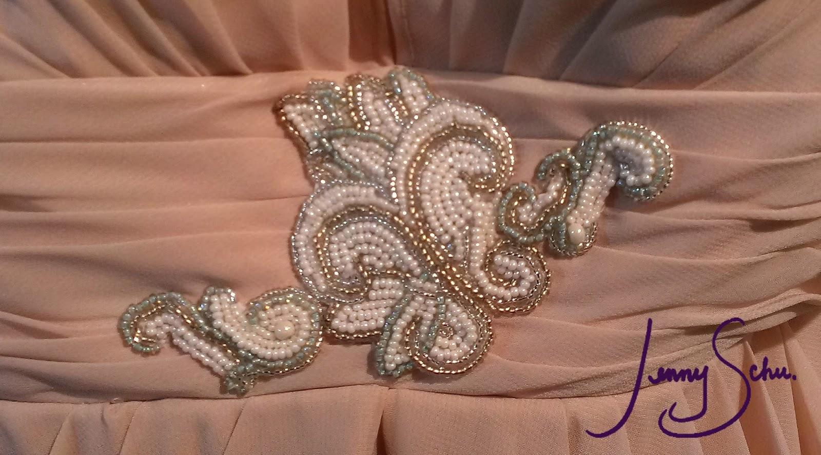 Jenny schu beadweaving and fiber art wedding dress bead
