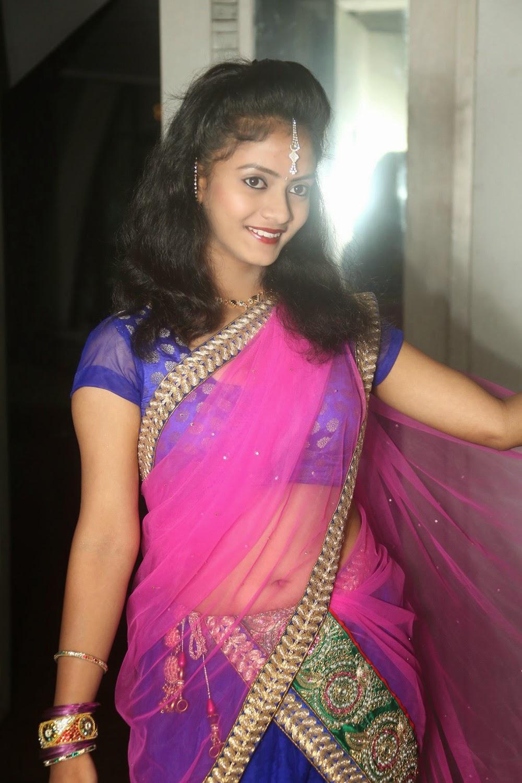 Young actress Jaya Harika in half saree-HQ-Photo-17