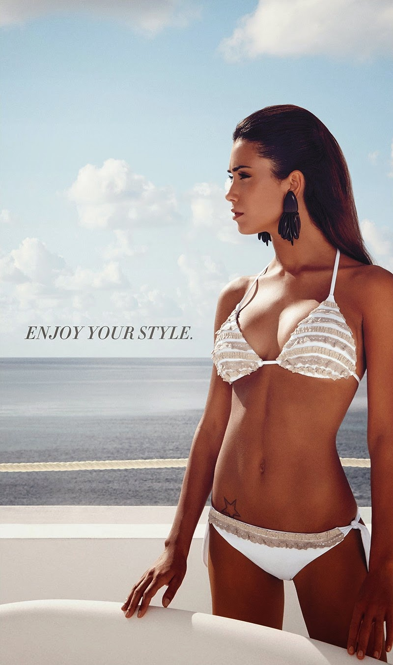 Supermodel Federica Nargi - 'Goldenpoint' Swimwear Catalogue 2014