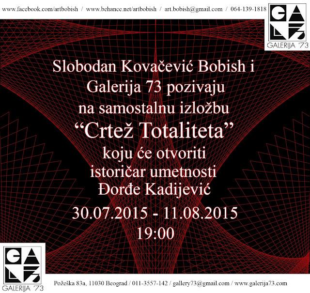 Otvaranje izložbe Slobodana Kovačevića Bobisha