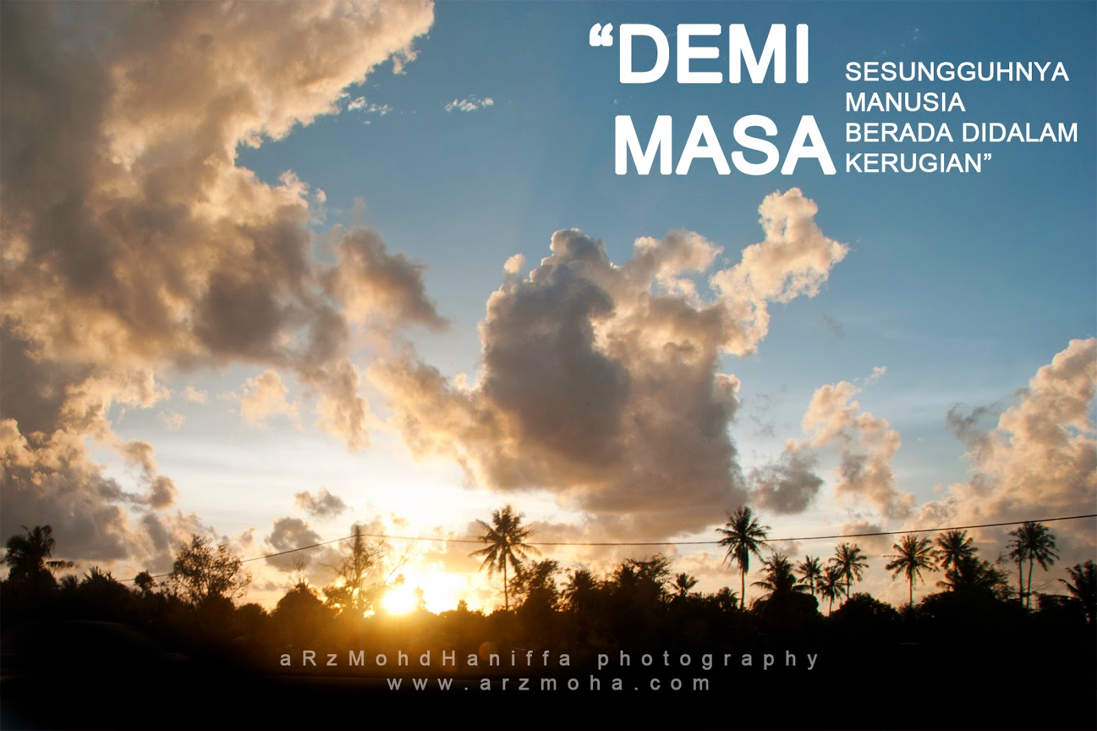 arzmoha, demi masa, time, gambar cantik, kata-kata indah, sunset