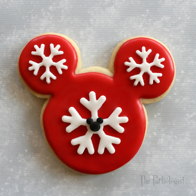 holly mickey - Mickey Mouse Christmas Cookies
