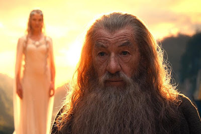Cate Blanchett as Galadriel, Ian McKellen as Gandalf the Grey, Directed by Peter Jackson