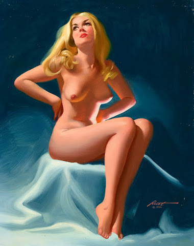 Seated Nude Pin-Up